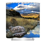 Grosvenor Hills 17 Miles North Of Mexico Shower Curtain