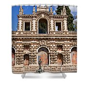 Grotesque Gallery In Real Alcazar Of Seville Shower Curtain
