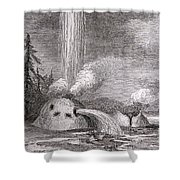 Grotto Geyser Yellowstone National Park Shower Curtain