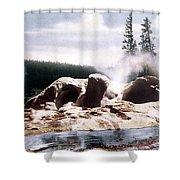 Grotto Geyser Yellowstone Np Shower Curtain