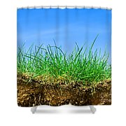 Ground And Grass Shower Curtain