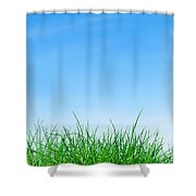 Ground Grass And Sky Shower Curtain