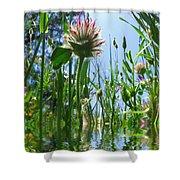 Ground Level Flora Shower Curtain