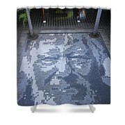 ground mosaic in the cultural center of Granada Nicaragua Shower Curtain