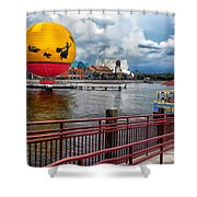 Grounded By The Storm Balloon Ride Walt Disney World Shower Curtain