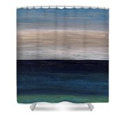 Grounding By The Sea Shower Curtain