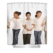 Group Of Children Shower Curtain by Don Hammond