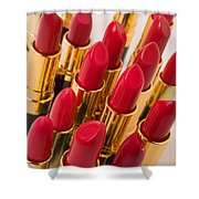 Group Of Red Lipsticks Shower Curtain