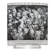 Group Of Thirty-five Heads Shower Curtain