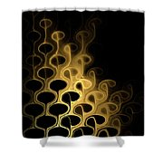 Grouped In Gold Shower Curtain