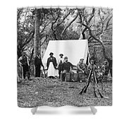 Grover Cleveland Duck Hunting Shower Curtain