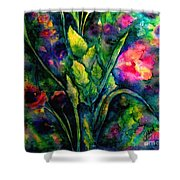 Growing Together In Love Shower Curtain