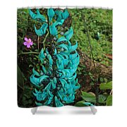 Growing Turquoise Shower Curtain