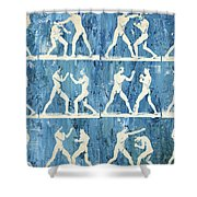 Grudge Match Shower Curtain by Aged Pixel