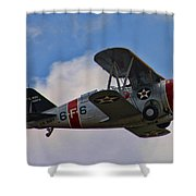 Grumman F3f-2 Bi-plane Shower Curtain