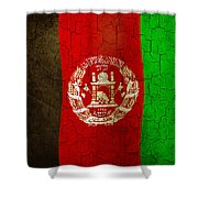 Grunge Afghanistan Flag Shower Curtain