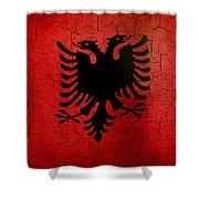 Grunge Albania Flag Shower Curtain