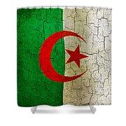 Grunge Algeria Flag Shower Curtain