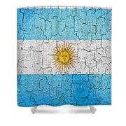 Grunge Argentina Flag Shower Curtain