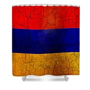 Grunge Armenia Flag  Shower Curtain