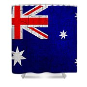 Grunge Australia Flag Shower Curtain