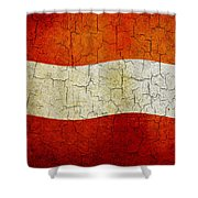 Grunge Austria Flag Shower Curtain