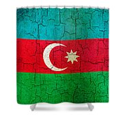 Grunge Azerbaijan Flag Shower Curtain