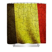 Grunge Belgium Flag Shower Curtain