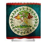 Grunge Belize Flag  Shower Curtain