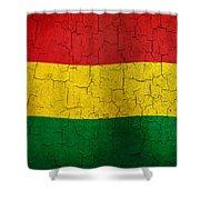 Grunge Bolivia Flag Shower Curtain
