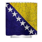 Grunge Bosnia And Hertzegoniva Flag Shower Curtain