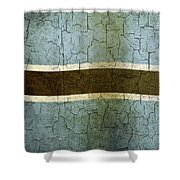 Grunge Botswana Flag Shower Curtain