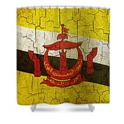 Grunge Brunei Flag Shower Curtain