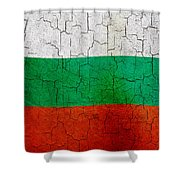 Grunge Bulgaria Flag Shower Curtain