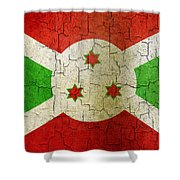 Grunge Burundi Flag Shower Curtain