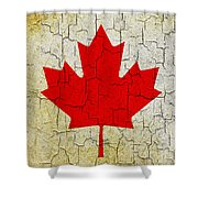 Grunge Canada Flag Shower Curtain