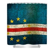 Grunge Cape Verde Flag Shower Curtain