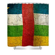 Grunge Central African Republic Flag Shower Curtain