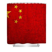 Grunge China Flag Shower Curtain