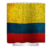 Grunge Colombia Flag Shower Curtain