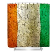 Grunge Cote D'voire Flag Shower Curtain