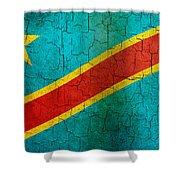 Grunge Democratic Republic Of The Congo Flag Shower Curtain