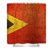 Grunge East Timor Flag Shower Curtain