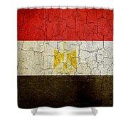 Grunge Egypt Flag Shower Curtain