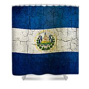 Grunge El Salvador Flag Shower Curtain