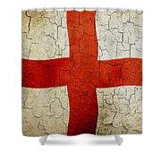 Grunge England Flag Shower Curtain