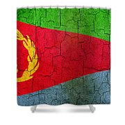 Grunge Eritrea Flag Shower Curtain