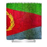 Grunge Eritrea Flag Shower Curtain