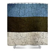 Grunge Estonia Flag Shower Curtain
