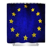Grunge European Union Flag Shower Curtain